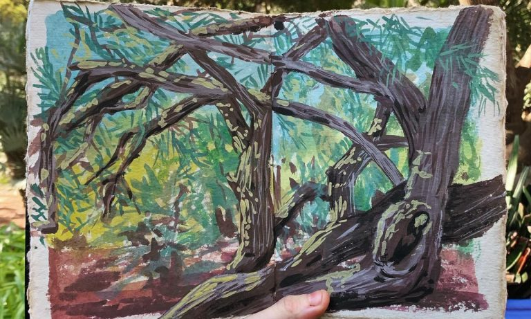 Painting on location and the practice of mindful observation