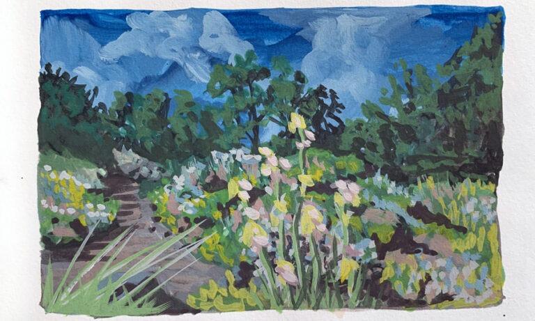 En plein air Painting with Gouache