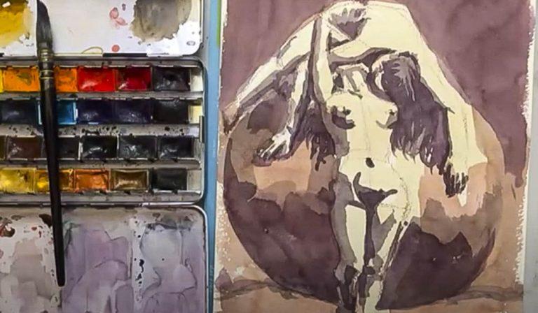 Figure in Watercolor Class (Video)