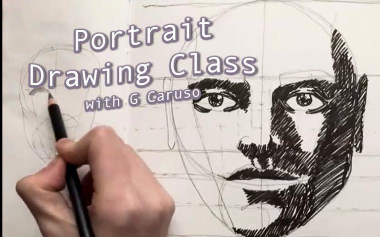Portrait Drawing Class (video)